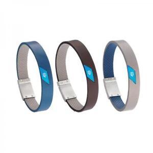 Bracciale-Uomo-PIQUADRO-Vera-Pelle-Alluminio-Made-in-Italy-Marrone-Grigio-Blu