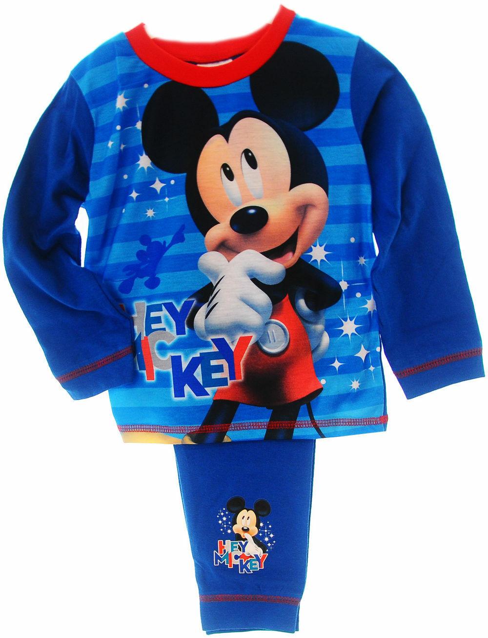 Mickey Mouse Baby Pyjama Schlafanzug Set 62 68 74 80 86 Shirt Hose Blau