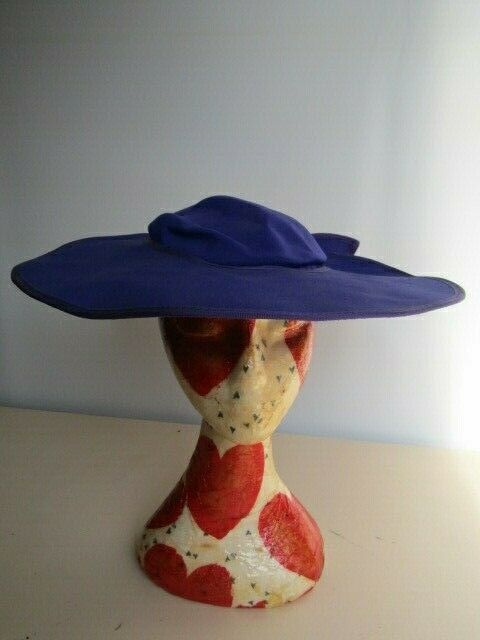 Hat Studio Design Made in England Special Occasion Wedding Races Purple Bow