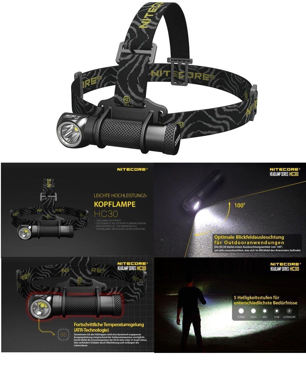 Nitecore HC30 LED Headlamp Headlamp Torch Headlamp 1000 Lumen NEW