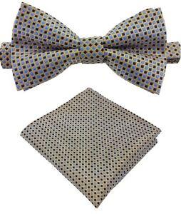 Fliege-Einstecktuch-Schleife-Querbinder-Binder-de-Luxe-530-silber-Krawatten