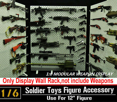 "1:6 CZ TOYS Modular Weapons Display Wall Gun Rack(Weapons not includ)12"" Figure"