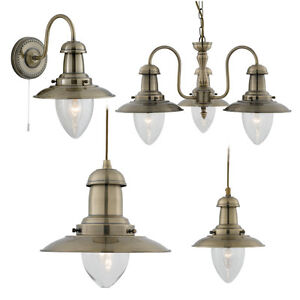 Image Is Loading Searchlight Fisherman Antique Br Maritime Style Light Ings