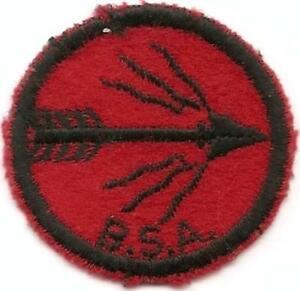 Old BSA B /& W Threads Back TIGER 1940s Era FELT Patrol Patch
