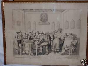 BART-PINELLI-1831-view-of-INTERNO-DE-GAMERA-OLD-MASTER-ANTIQUE-19TH-CEN-PRINT