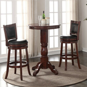 a82679935d9 3 Piece Cherry Finish Pub Set Home Dining Room Kitchen Furniture ...