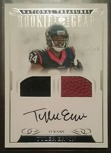 2016-NATIONAL-TREASURES-TYLER-ERVIN-ROOKIE-GEAR-DUAL-RELIC-MATERIALS-AUTO-15-99