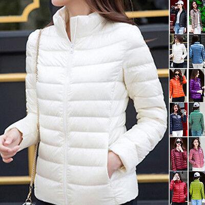 Women Girl Puffer Zip Up Warm Duck Down Parka Winter Coats Jackets Warm S-3XL
