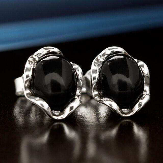 Onyx Silber 925 Ohrringe Damen Schmuck Sterlingsilber S543