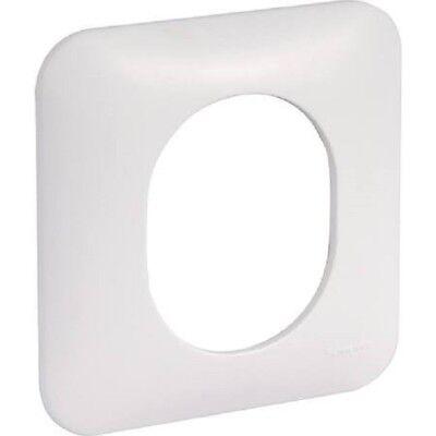 Plaque simple Schneider Ovalis blanc S260702