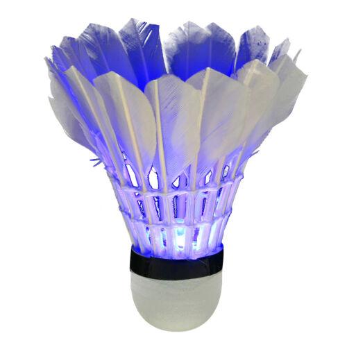 4Pcs Bunte LED Badminton Feather Federball Shuttlecocks Federbälle für Nacht Bälle Badminton