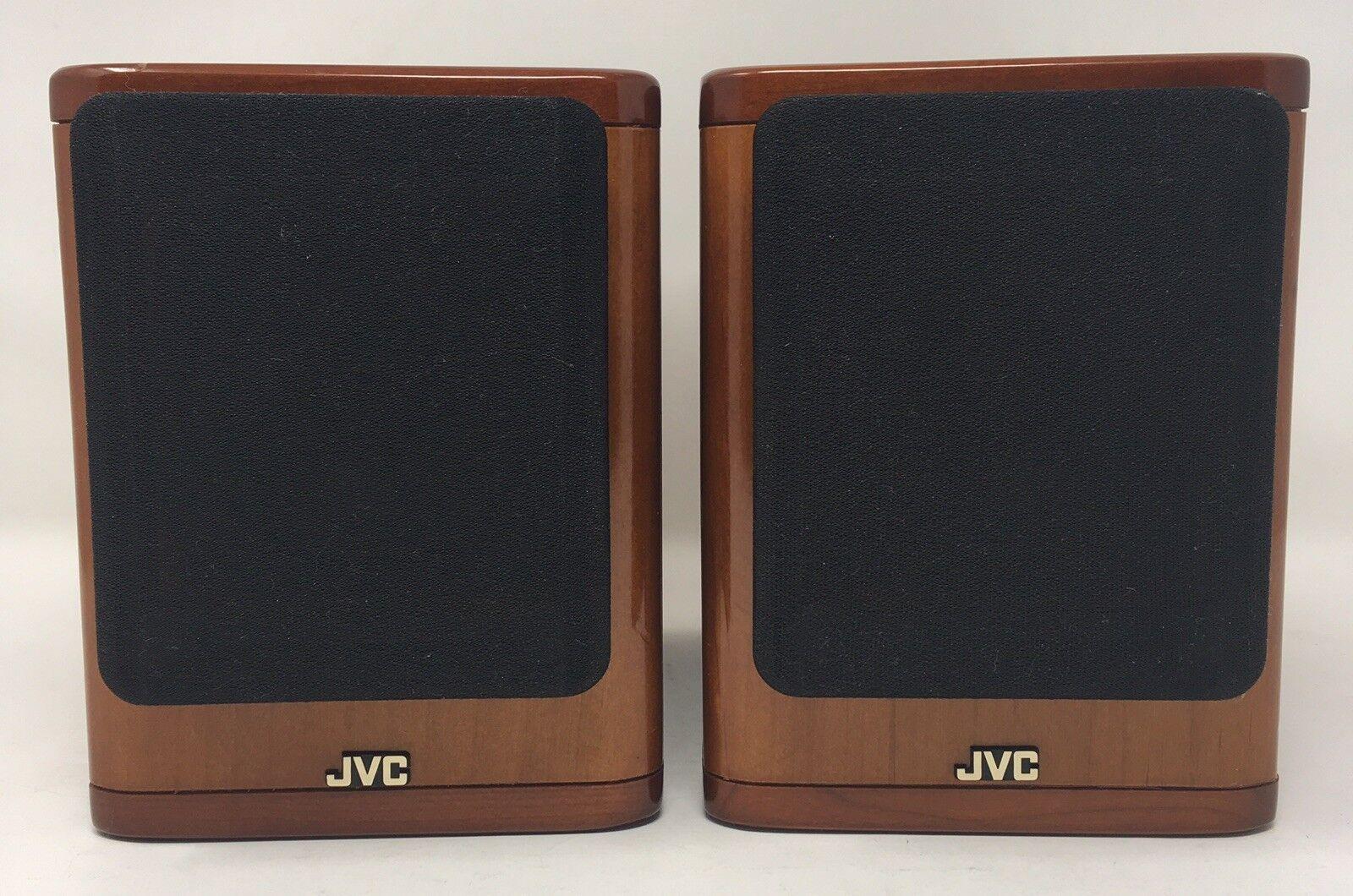 JVC SP-UX2000RGD Cherry Wood Speakers 20W 4 Ohms 4 1 2   x 7  x 6 1 8  Japan