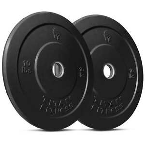 Titan-Fitness-Pair-10-lb-Olympic-Bumper-Plate-Black-Benchpress-Strength-Training