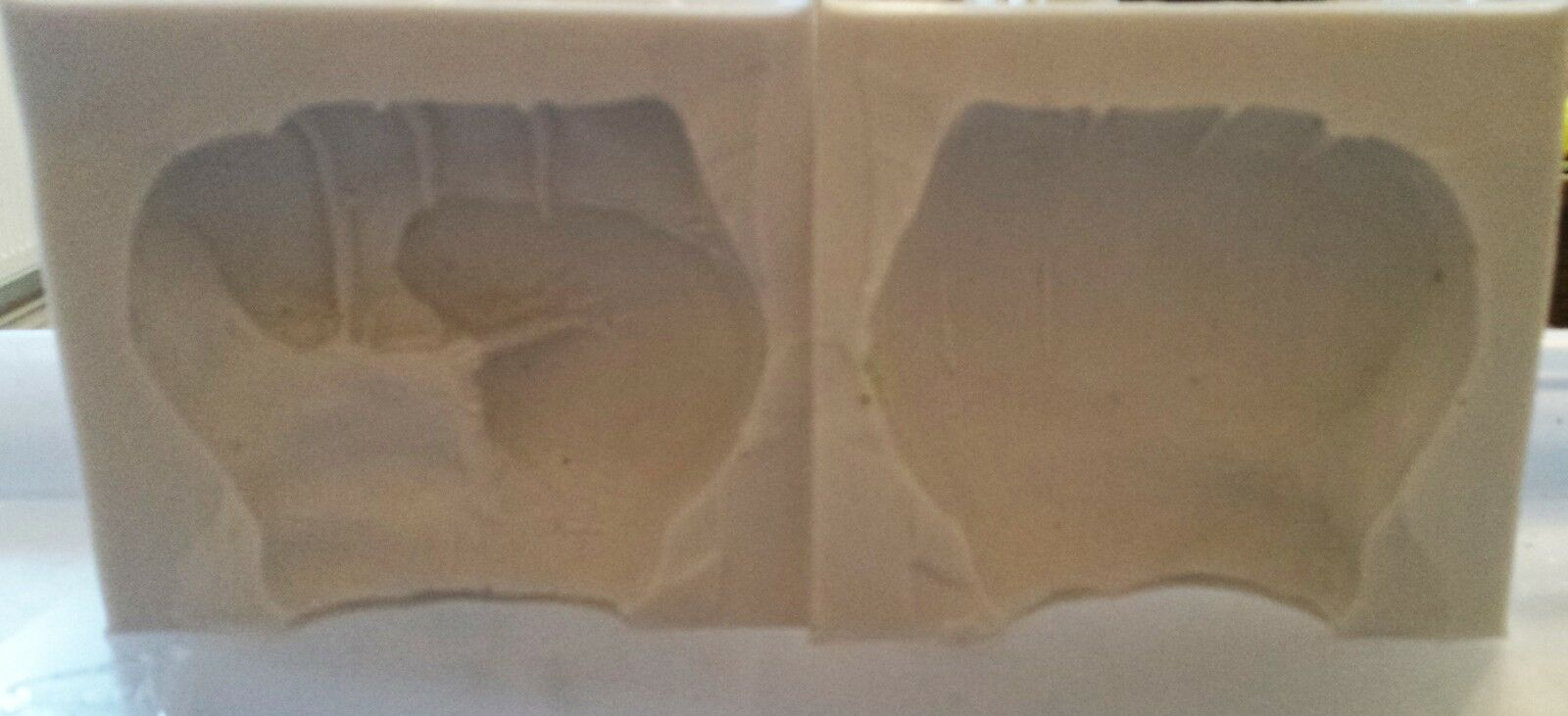 3 x 3 inch FIST 3D SILICONE MOULD FOR CAKE TOPPERS CHOCOLATE CLAY ETC