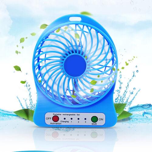 Mini LED Fan Air Cooler Battery Operated or USB Charging LED Light Fan SX