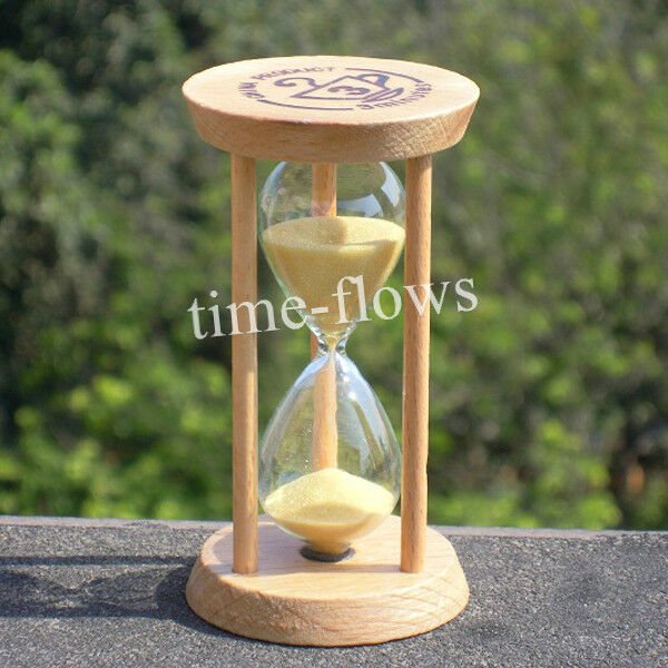 New Small Wooden Sand Hourglass Timer Clock 3Min for Tea/Coffee Home/Office gift
