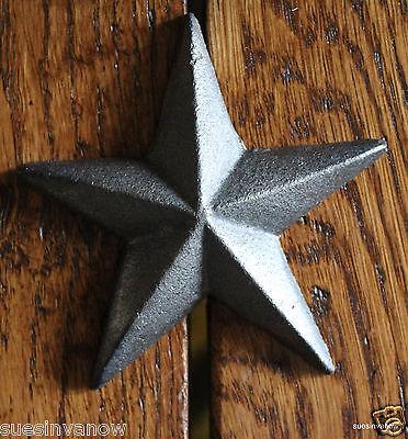 Cast Iron Medium Texas Star Nail Decorator Western Barn Accent Home Outdoor