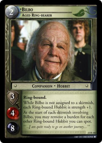 LOTR TCG Bilbo Aged Ring Bearer 13R142 Bloodlines Lord of the Rings MINT