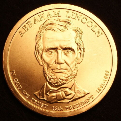2010 P/&D Abraham Lincoln  One Dollar Presidential Money Coins U.S Mint Rolls