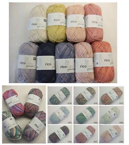 Rico Baby Wolle.Details Zu 5 60 100g Rico Baby Cotton Soft Dk 50 G Babygarn Garn Wolle