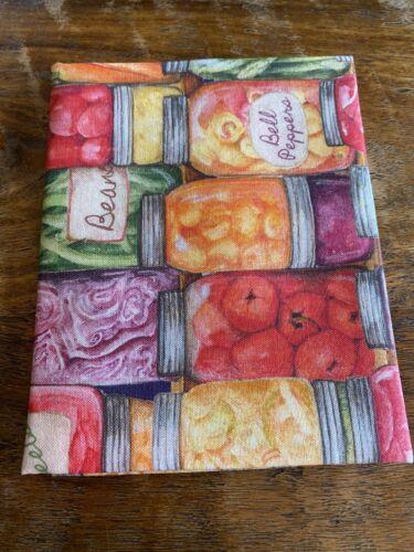 Fat Quarter Vegetables Canning Mason Jars Kitchen Farm Cotton Quilting Fabric