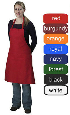 1 New Spun Poly Bib Apron | Craft Restaurant Commercial Kitchen Chef Bib Apron