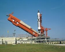 New 8x10 NASA Photo: Rocket of Gemini V (5) Space Vehicle on Launch Pad, 1965
