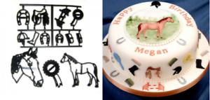 Cake Decorating Embosser Cutter Patchwork Cutters HORSE SET