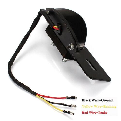Motorcycle Light License Plate Bracket LED Custom Tail Light Universal Smoke US