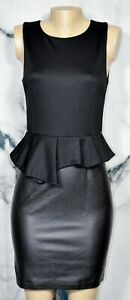 INC-INTERNATIONAL-CONCEPTS-Black-Sleeveless-Peplum-Dress-6-Faux-Leather-Skirt