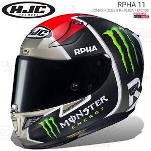 CASCO INTEGRALE HJC RPHA 11 JONAS FOLGER REPLICA / MC1SF OPACO 2019 MOTO PINLOCK