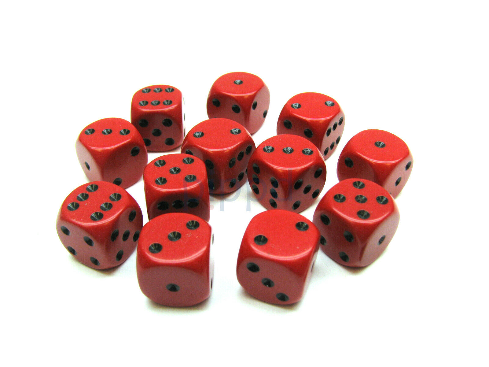 Speckled 12mm D6 RPG Chessex Dice 12 Dice Ninja Speckled Black and Grey Bunco