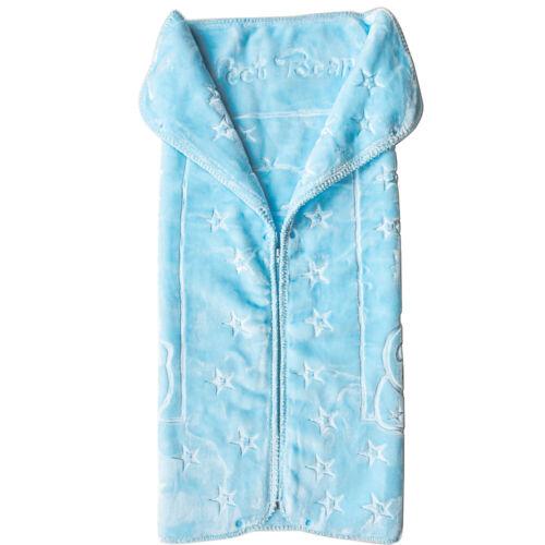 Almina Babydecke Kuscheldecke mit Reißverschluss Weich Kuschelig Blau Jungs Warm
