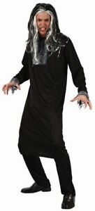 Adult Dead Psycho Costume Scary Dresses Party Gents Fancy Black Dress Circus Up