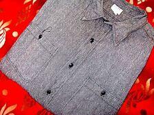 Vintage 40's BIG MAC Sanforized Chambray Work Shirt Black Salt & Pepper XL