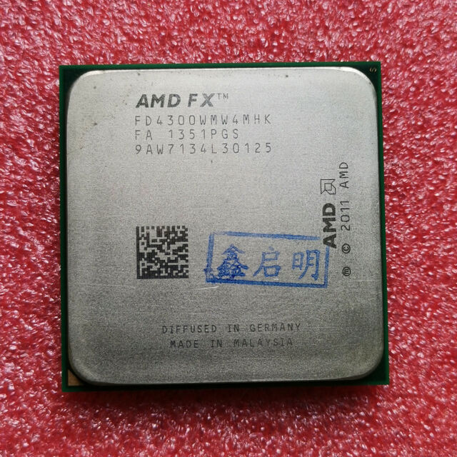 Amd Fx 4300 Processor Cpu Fd4300wmw4mhk 3 8ghz Am3 4 Core 1m Cache 95w For Sale Online Ebay