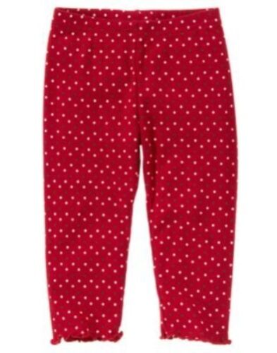 GYMBOREE SWEET TREATS RED PINDOT LEGGINGS 3 6 12 18 24 2T 3T 4T 5T NWT
