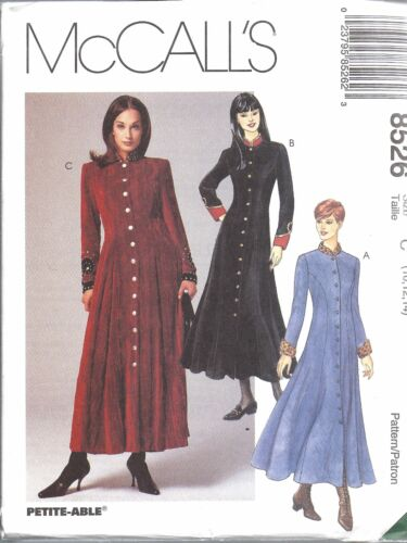 8526 UNCUT McCalls SEWING Pattern Misses Semi Fitted Princess Dress Button Front