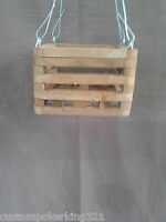 6 Wooden Slatted Vanda Orchid Basket/pot With Metal Wire Hanger