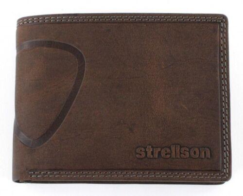 Strellson Baker Street Billfold h7 Portefeuille Porte-Monnaie Portefeuille Marron Nouveau