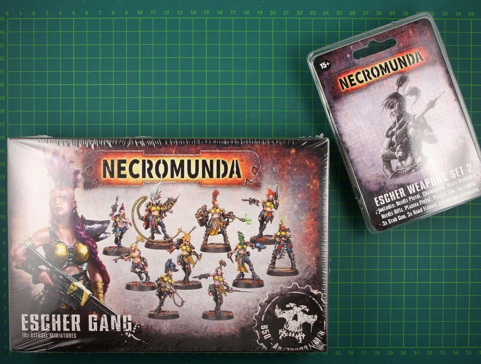 Escher Gang Box + Escher Weapons Juego de 2 Forge World Necromunda 11922