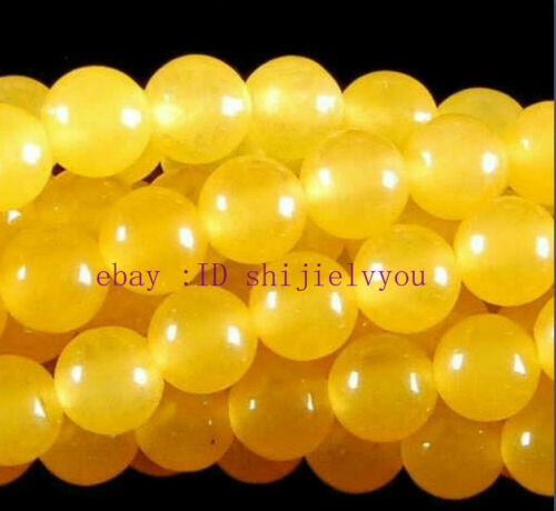 8mm Rare Yellow South America Topaz Loose Bead 15/'/'AAA