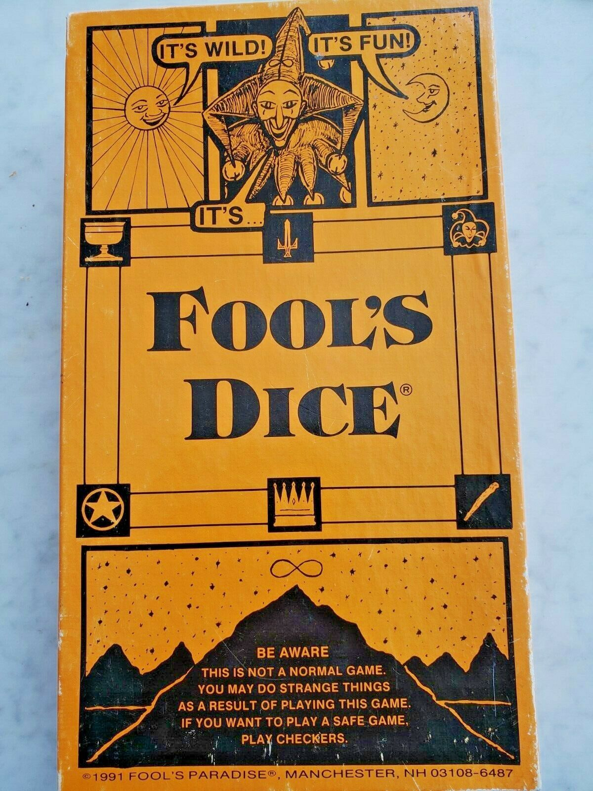 Fool's Dice by Fool's Paradise,Manchester NH, Vintage board game 1991