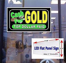 Cash For Gold 48x24 Led Illuminated Window Sign