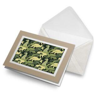 Greetings-Card-Biege-Green-Dinosaurs-Camo-Dinosaur-14451