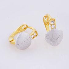 Toddler Girls Childrens crystal heart hoop earrings silver 14k gold filled Cheap