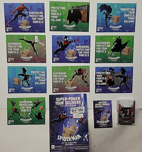 MBE Mail Boxes Etc SPIDERMAN Into The Spider Verse PROMOTIONAL SET cards