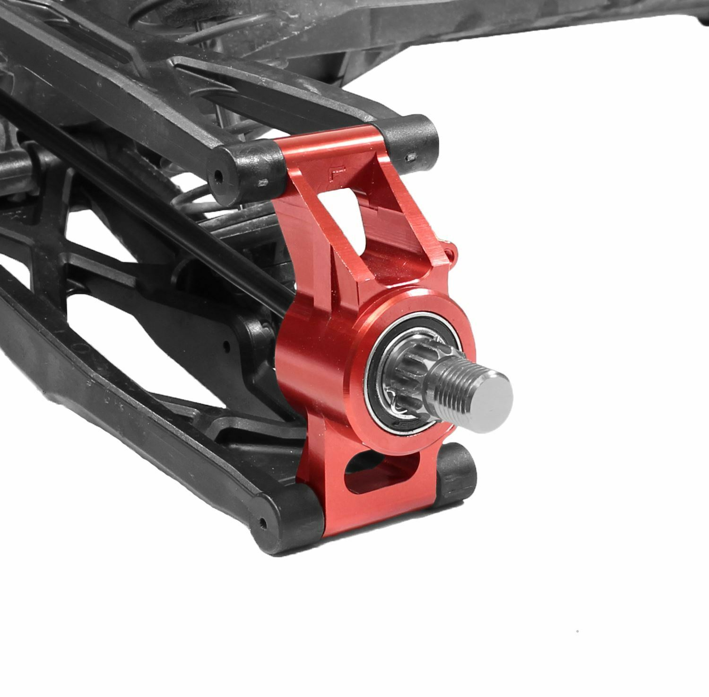 Racers Edge-X-Maxx Rear Hub Carrier aluminio Set-Rojo