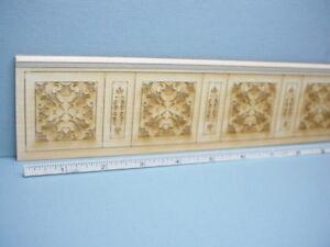 """Dollhouse Miniature Decorative Wainscot Sheet Laser Cut 2-5/8""""Tall x23""""L #W2"""