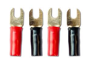 4x Gabelkabelschuhe Gabel Kabelschuhe Klemmen für Kabel bis 6mm²